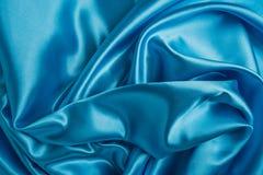 La soie bleue élégante lisse peut employer comme fond de mariage rétro St photographie stock