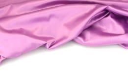 La soie pourprée drapent Photographie stock libre de droits