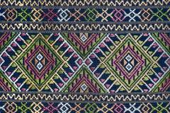 La soie thaïlandaise colorée handcraft la fin péruvienne de surface de couverture de style  photos libres de droits
