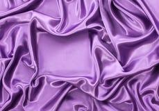 La soie violette drapent Image stock