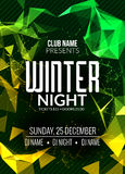 La soirée dansante, DJ luttent la conception d'affiche Partie de disco d'hiver Insecte d'événement de musique ou calibre d'illust Images libres de droits