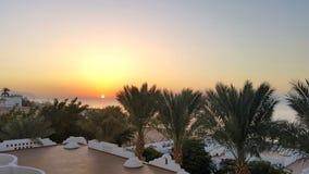 La soirée en Egypte est magique Photos stock