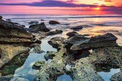 La soirée sur la plage Image libre de droits