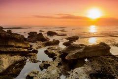 La soirée sur la plage Image stock
