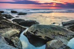La soirée sur la plage Images stock