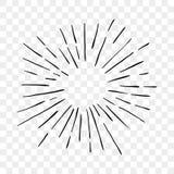 La sol de la explosión de Sun irradia las líneas icono del vector stock de ilustración