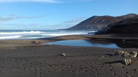 La Solapa fuerteventura islas canarias. Amanecer  holidays playa Royalty Free Stock Image