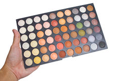 La sombra de ojos colorida compone la paleta. foto de archivo