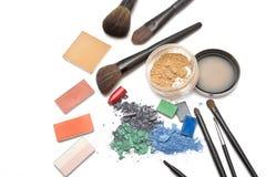Cosméticos profesionales para el maquillaje Imágenes de archivo libres de regalías