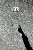 La sombra de su mano Imagen de archivo libre de regalías
