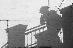 La sombra de WomanFotografía de archivo