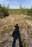 La sombra del fotógrafo Foto de archivo