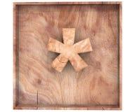 La somma di legno decorativa di moltiplicazione di simbolo della cifra canta in scatola di legno illustrazione della rappresentaz royalty illustrazione gratis