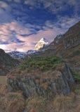 La sommità della montagna fotografia stock libera da diritti