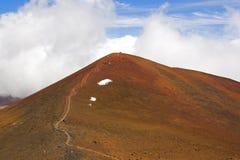 La sommità di Mauna Kea e delle Hawai Fotografie Stock Libere da Diritti