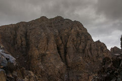 La sommità rocciosa di Toubkal Fotografie Stock Libere da Diritti