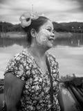 La sonrisa de la señora de lunes Imagen de archivo libre de regalías