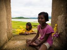 La sonrisa de los niños de lunes Fotografía de archivo libre de regalías