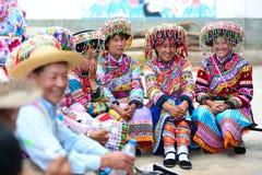 La sonrisa del color en China Foto de archivo libre de regalías