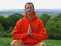 La sonrisa meditate Imagenes de archivo