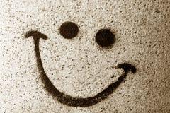 La sonrisa pintada en la pared Fotografía de archivo libre de regalías