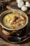 La sopa amarga hecha de la harina de centeno imagen de archivo libre de regalías