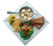 La sopa de guisantes con un perejil adorna Imagen de archivo