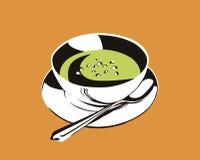 La sopa de guisantes de la fractura Fotografía de archivo libre de regalías