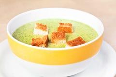 La sopa del bróculi Foto de archivo libre de regalías