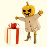 La sorcière de potiron de Veille de la toussaint a la grande illustration de cadeau Image stock