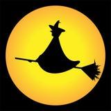 La sorcière et la lune Photos libres de droits