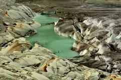 La sorgente del fiume Rhone Fotografie Stock