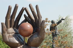 La sosta della statua Fotografie Stock Libere da Diritti