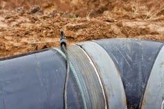 La soudure travaille au gazoduc Images libres de droits