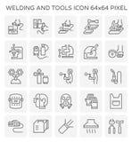 La soudure usine l'icône illustration stock