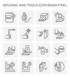 La soudure usine l'icône illustration libre de droits