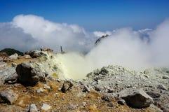 La Souffrière火山在瓜德罗普 库存图片