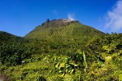 La Souffrière火山在瓜德罗普 免版税库存图片