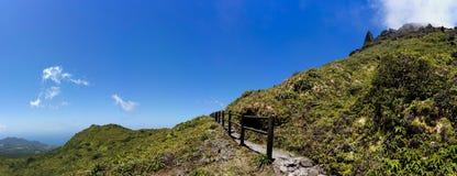 La Soufrière火山在瓜德罗普 库存照片