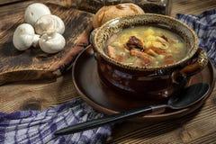 La soupe aigre faite de farine de seigle images stock
