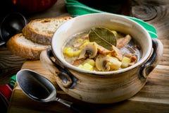 La soupe aigre faite de farine de seigle photo libre de droits