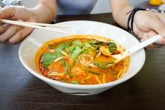 La soupe de nouilles Photo stock