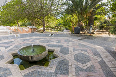 La source d'Alcazaba Images libres de droits