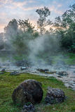 La source thermale chez Chae Son National Park Image libre de droits