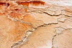La source thermale de Yellowstone Mammonth Images libres de droits