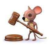 la souris 3d court une vente aux enchères Photos stock