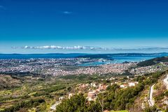 La spaccatura, Croazia WS da Kliss fortifica Immagine Stock