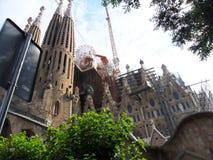 La Spagna Barcellona Sagrada Familia Fotografia Stock