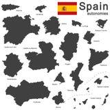 La Spagna ed autonomie Immagini Stock