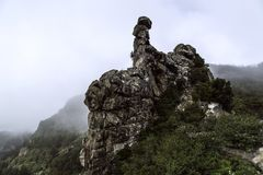 La Spagna, La Gomera, un paradiso di camminata e riserva di biosfera dell'Unesco fotografie stock libere da diritti